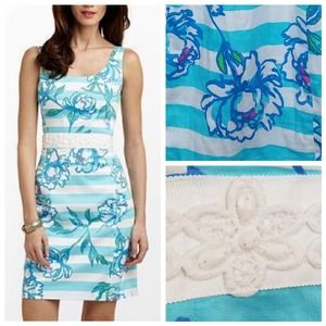 Lilly Pulitzer 00 Serena Beaded Toss the Line Dres